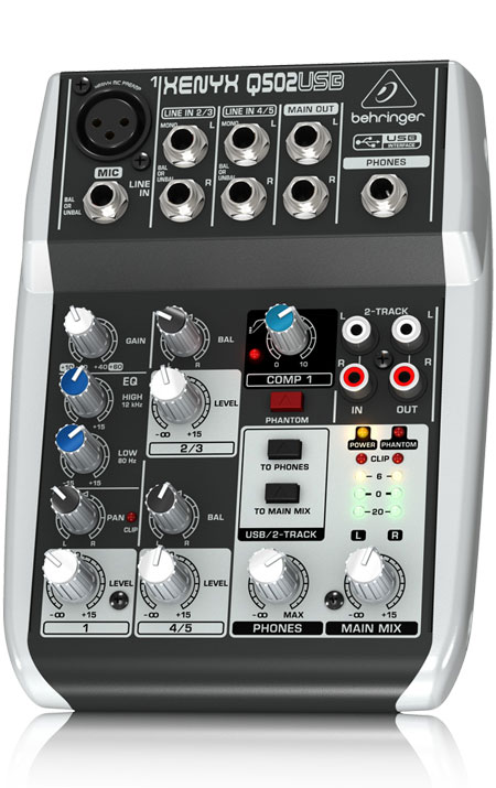 screenshot of Behringer Q502USB mixer