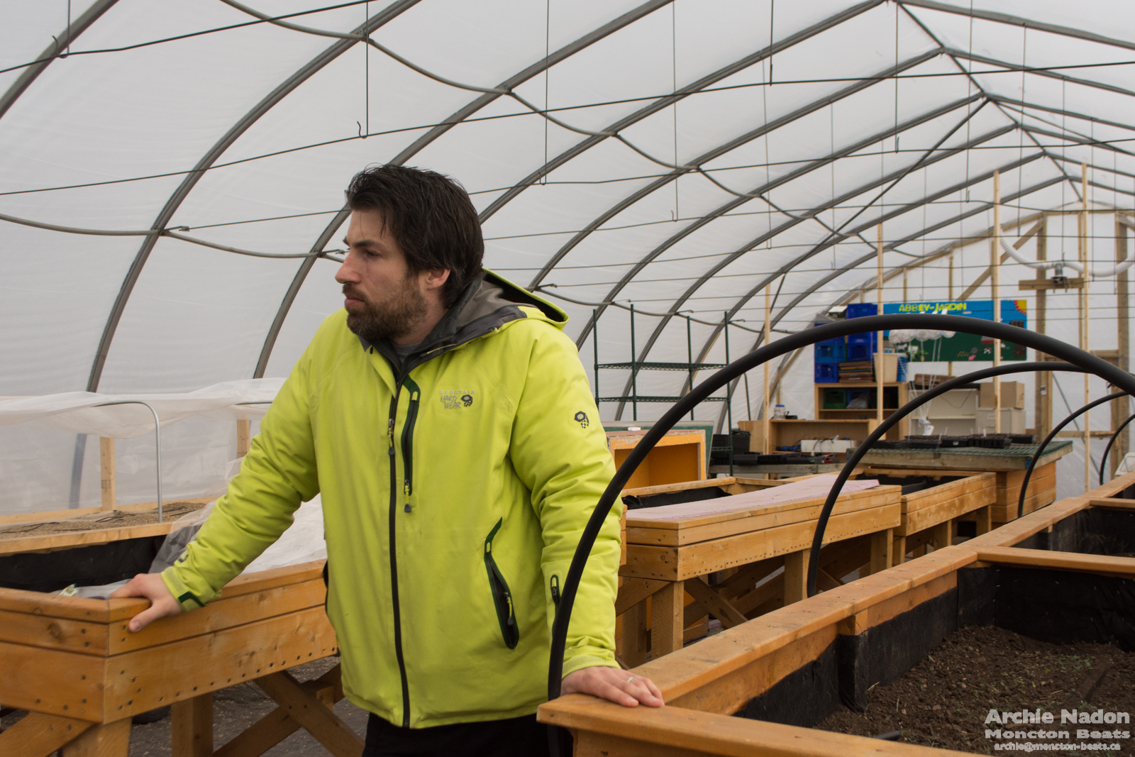 francois in the greenhouse at abbey landry school