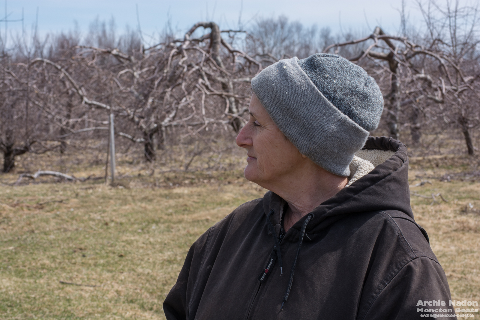 bernadette in the orchard