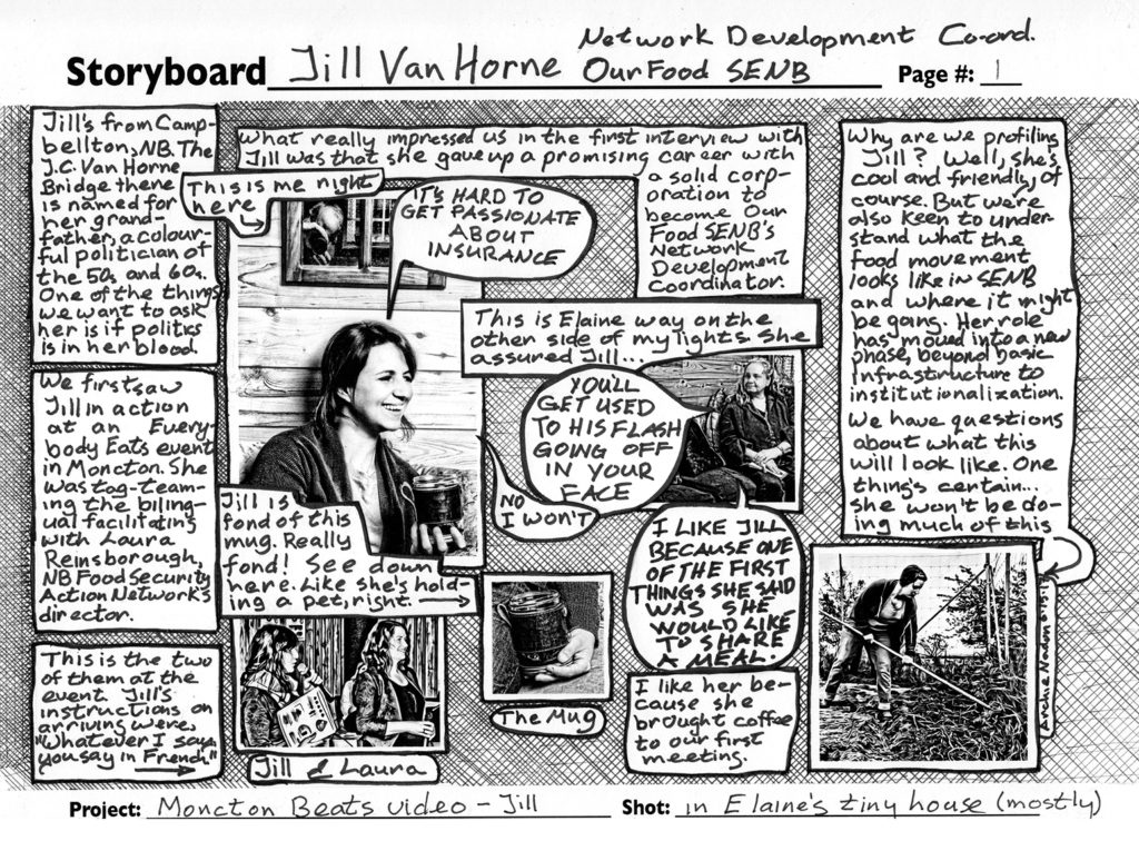 Comic of our work on a video of Jill van Horne