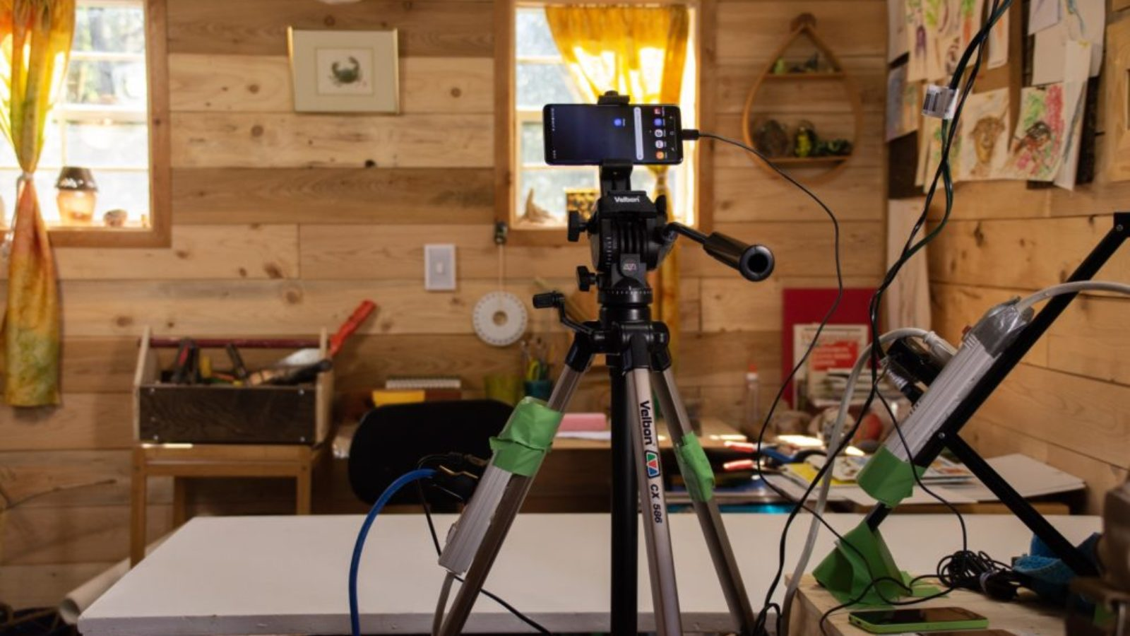 smart phone setup for video production
